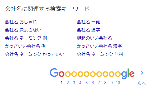 Google-関連する検索キーワード