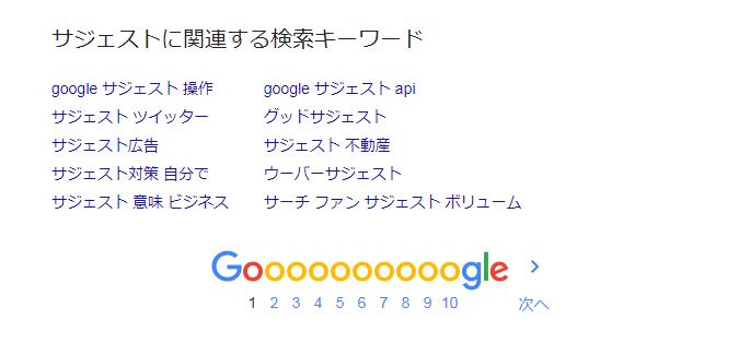 Google関連するキーワード(PC)